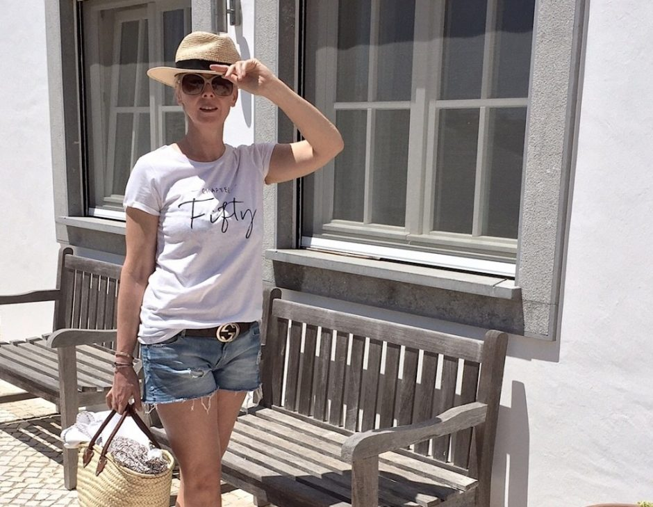 Chapter Fifty t shirt cut off jeans