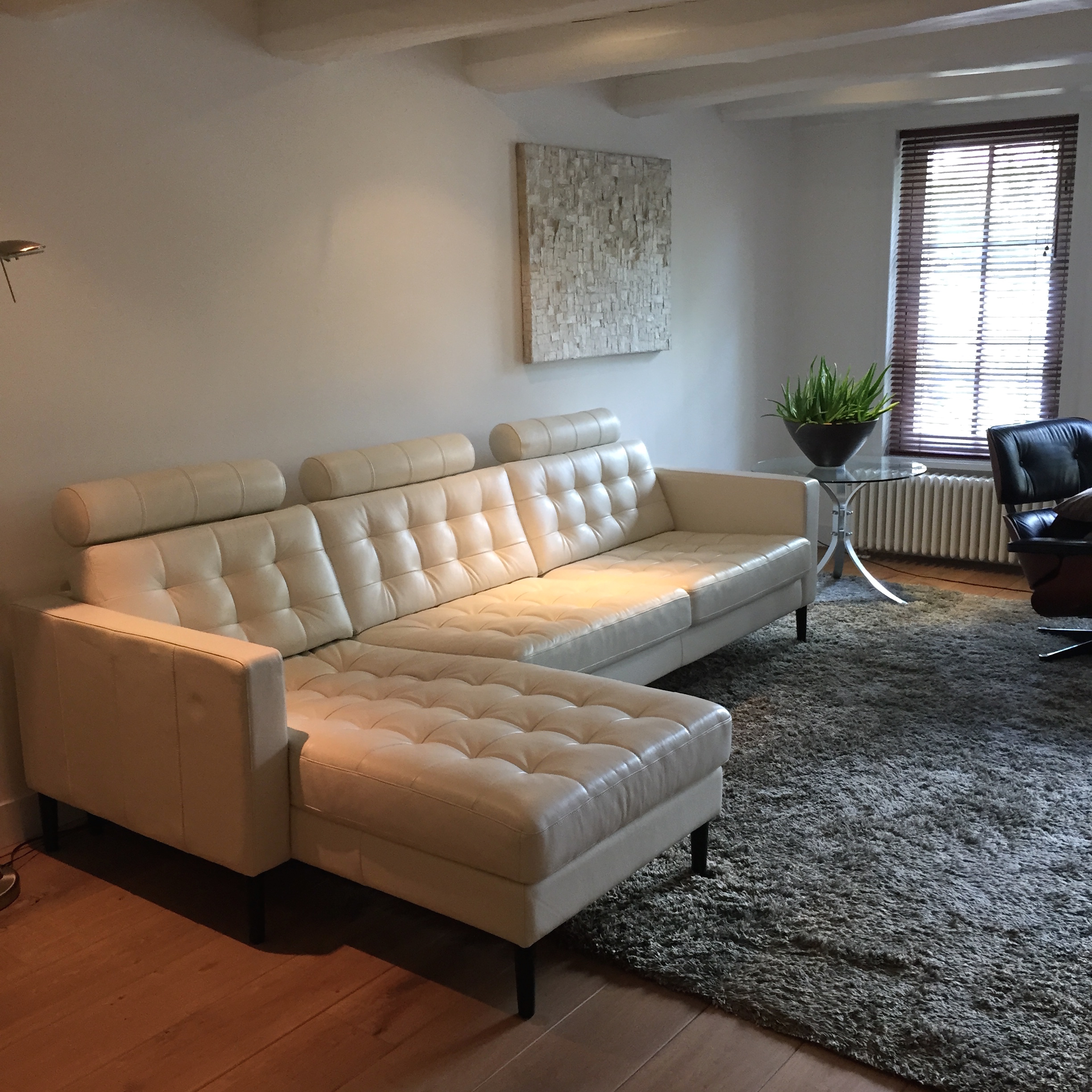 Ikea White Leather Couch Sofas: Stylish New Legs, (Ikea) Couch Make-over With Pretty Pegs