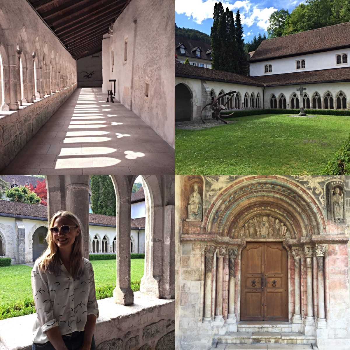 St-Ursanne abbey cloister