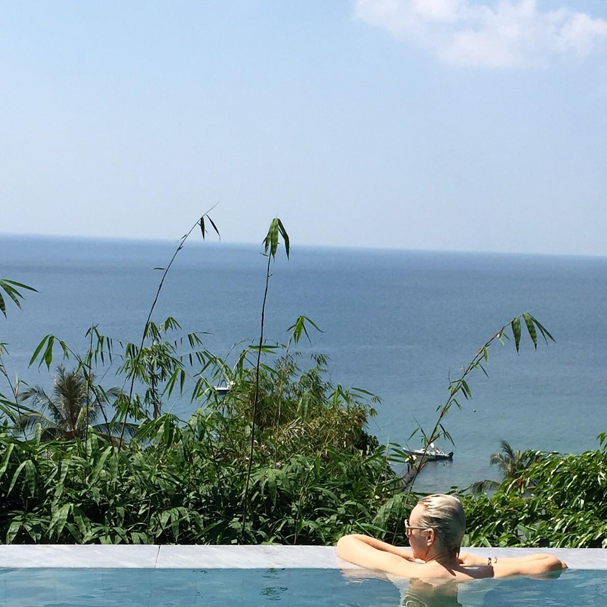 private infinity pool at villa at trisara resort phuket