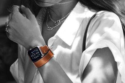 Chapter Fifty Apple Watch Hermes Double Tour with fauve strap