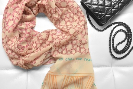 Malala Scarf x Toms x Chanel WOC flapbag