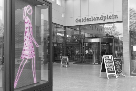 Travel Shopping mall Amsterdam Gelderlandplein Art Julian Opie