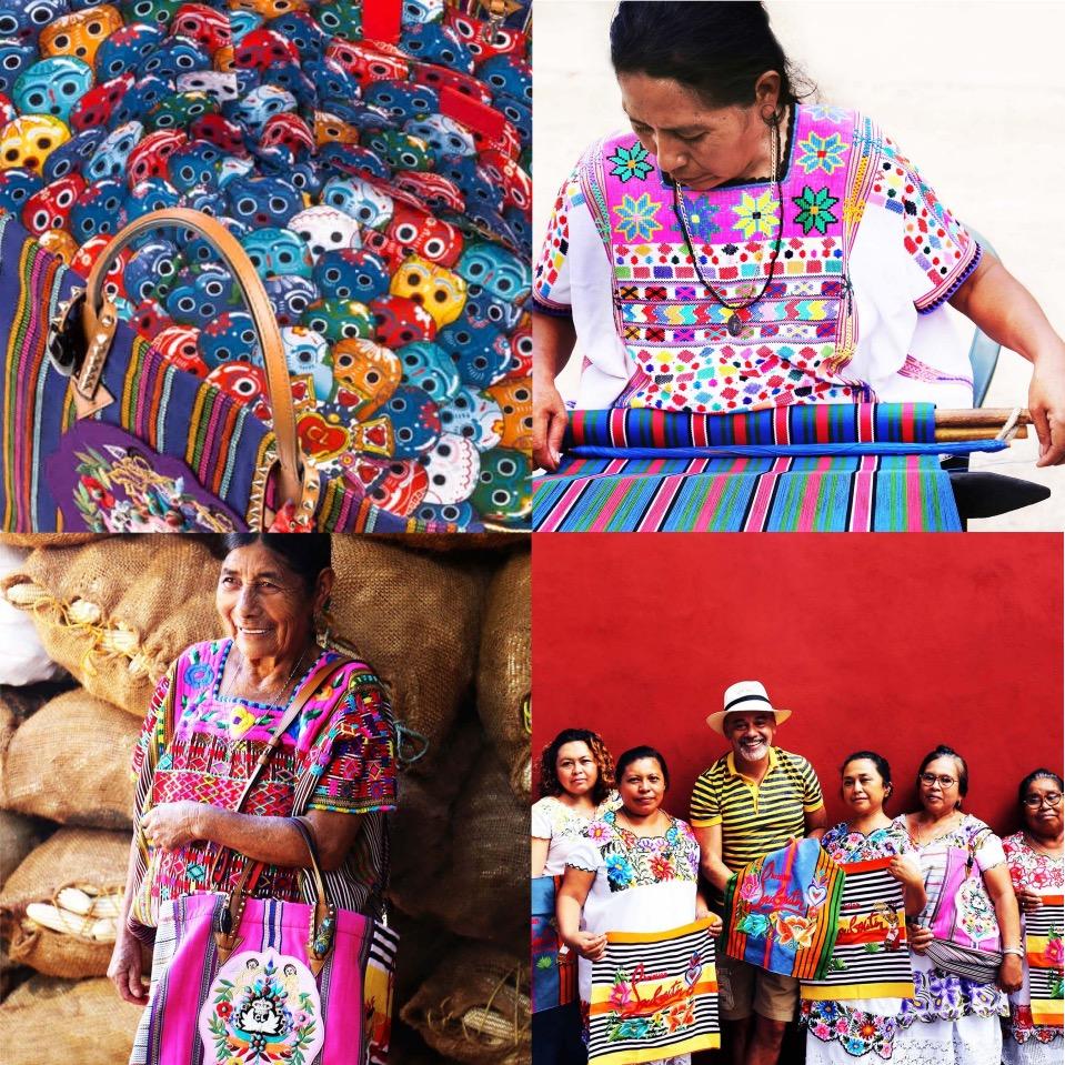 Mexicaba Treasure tote taller maya