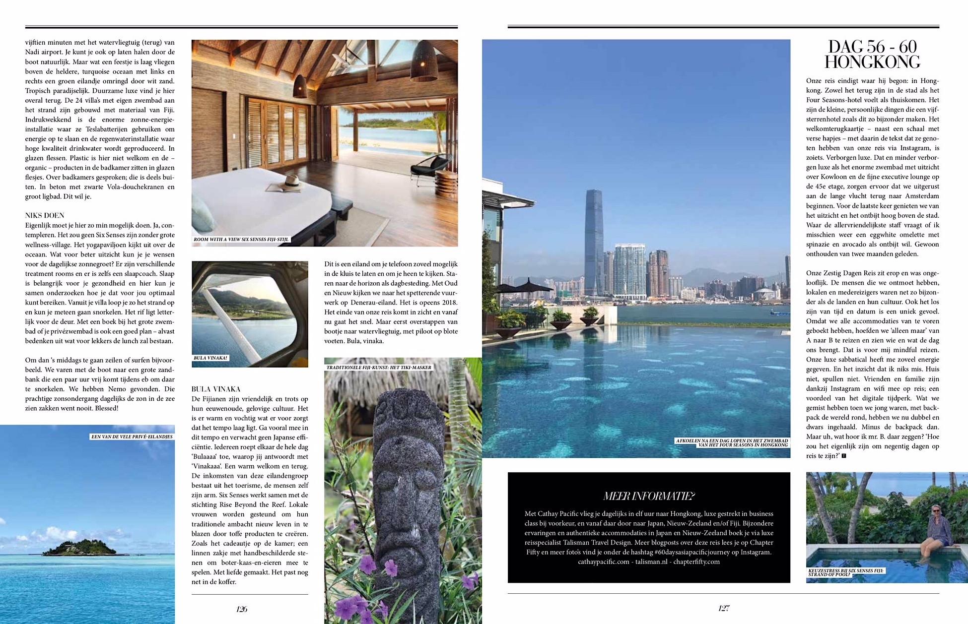 Luxury sabbatical Talkies Magazine Fiji Hong Kong